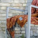 Orange Merino Wool Throw Marcello