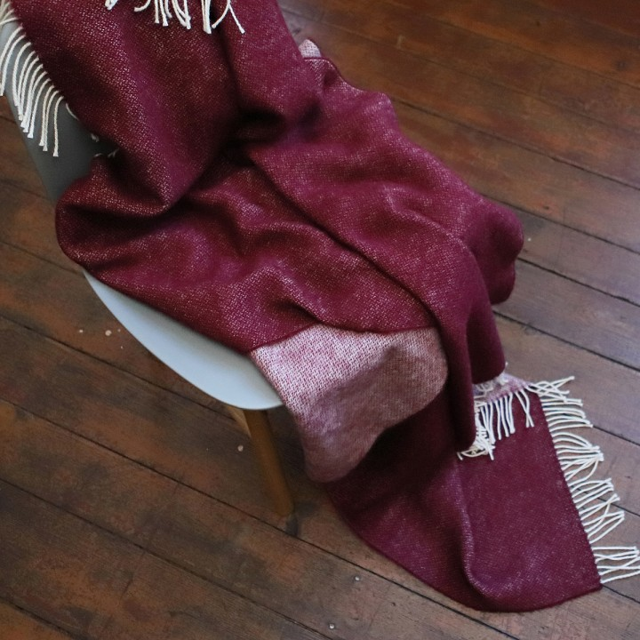 Cherry Wool Throw Roberto