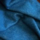 Marine Blue Wool Throw Roberto