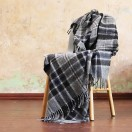 Check Wool Throw Adriano Grey
