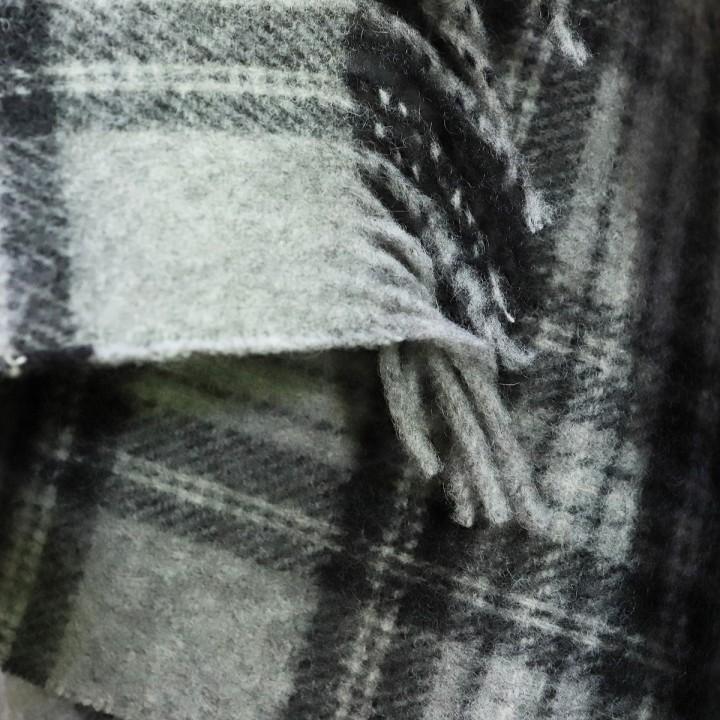 Alpaca Wool Throw Leonardo Grey