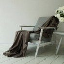 100% Cashmere Throw Everest Brown