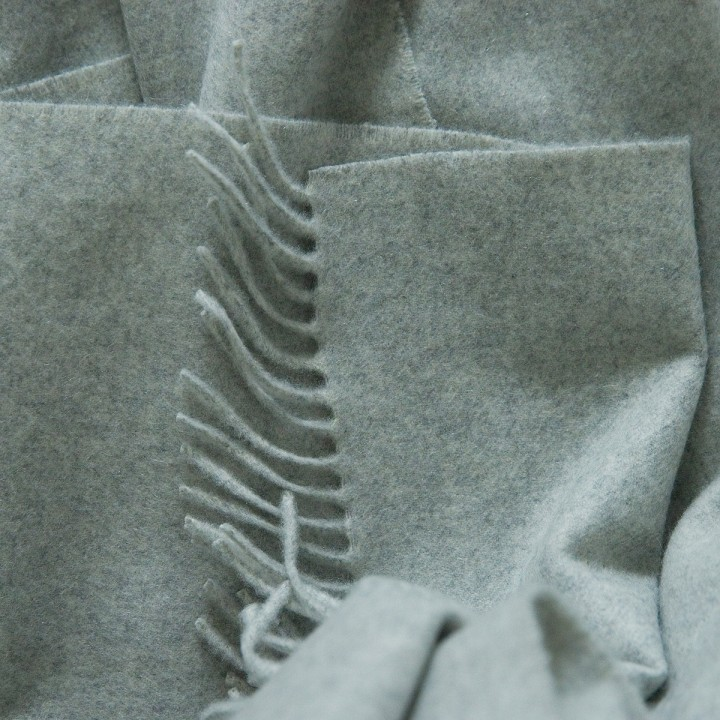 100% Cashmere Throw Everest Silver