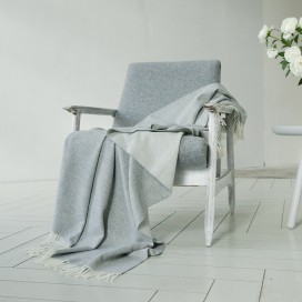 Cashmere Wool Throw Silver Ernesto