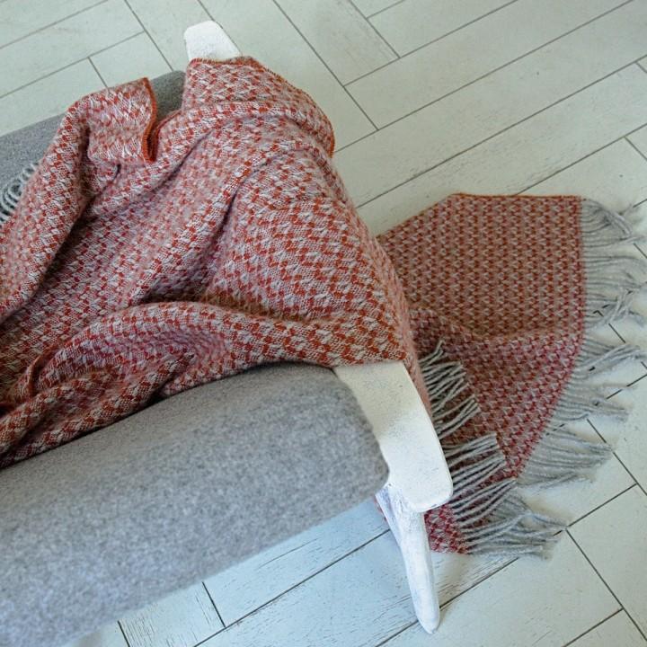 Wool Throw Terra Cotta Tito