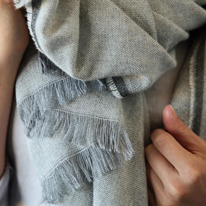 Silver Wool Shawl Salvatore