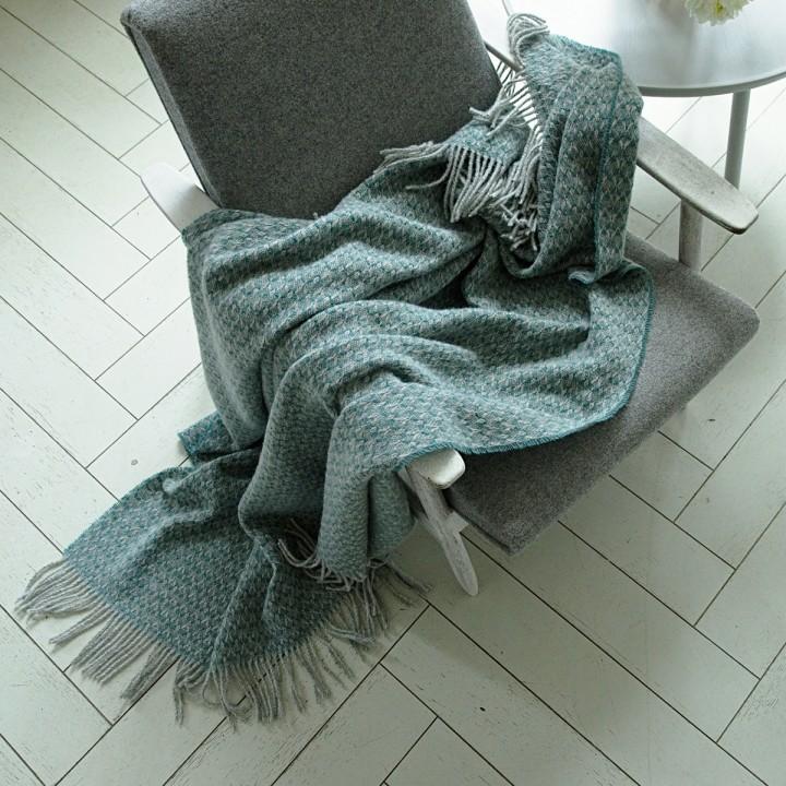 Wool Throw Spa Green Tito