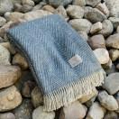 Dark Slate 100% Wool Throw Sergio