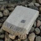 Grey Pure New Wool Throw Ottavio