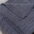 Charcoal Merino Throw Alessandra