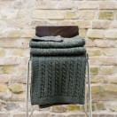 Green Merino Throw Alessandra